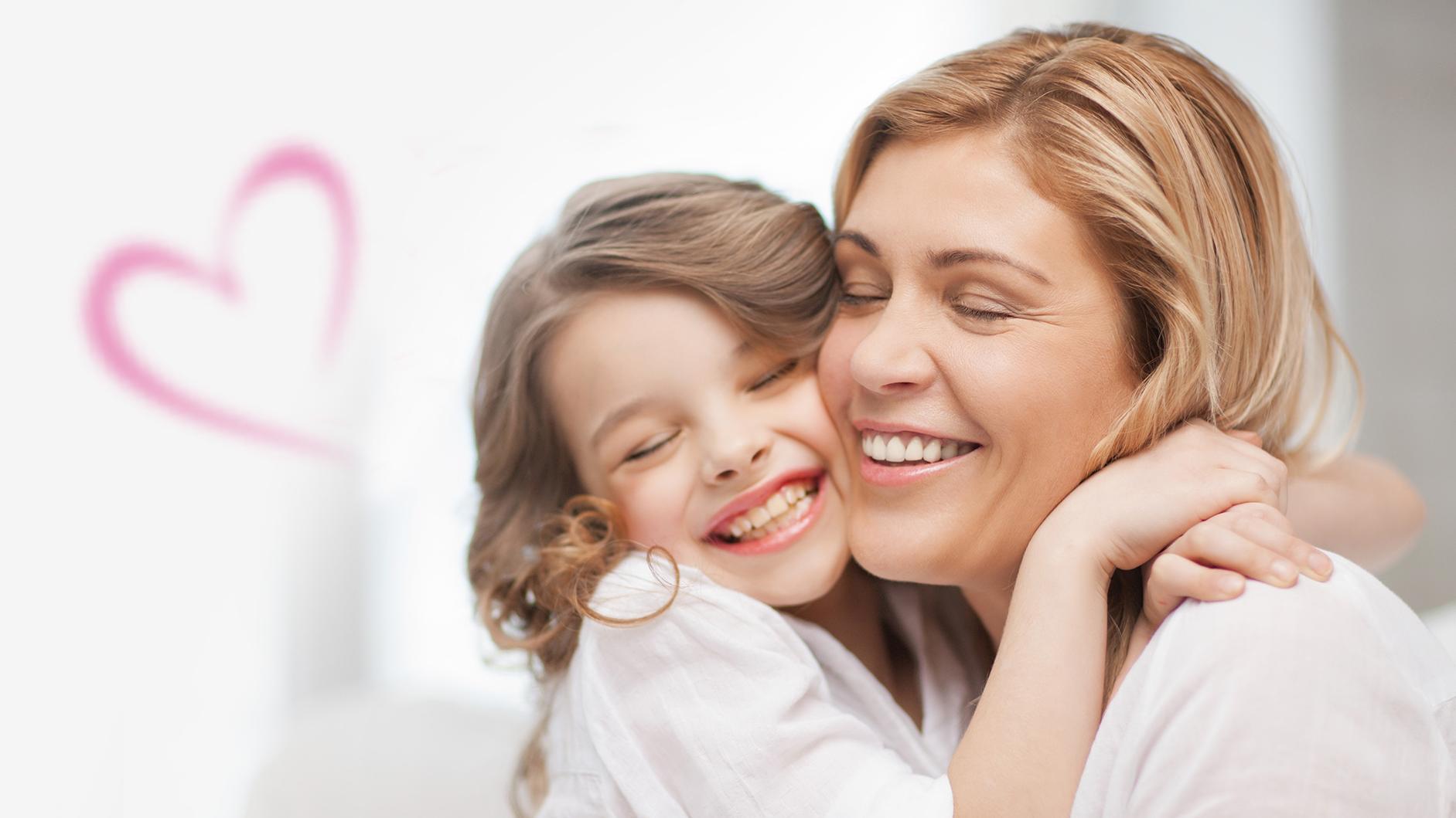 Картинки ко дню матери мама с ребенком